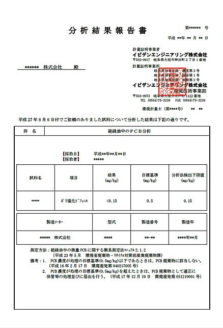 PCBの報告書